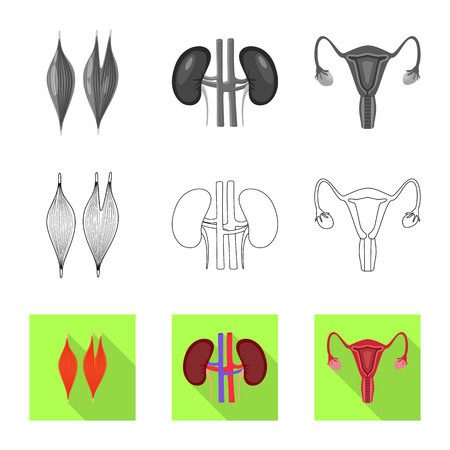 Isolated object of biology and scientific icon. Set of biology and laboratory vector icon for stock.