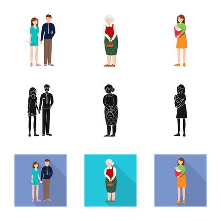 Conception vectorielle du logo du personnage et de l'avatar. Collection de symbole boursier de caractère et de portrait pour le web.