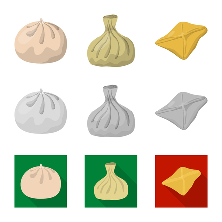 Isolated object of products  and cooking icon. Collection of products  and appetizer vector icon for stock.