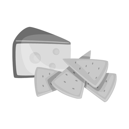 Vector illustration of cracker and appetizer  logo. Set of cracker and lactic stock symbol for web.