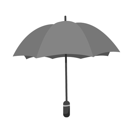 Isolated object of parasol and water icon. Collection of parasol and yellow stock vector illustration. Çizim