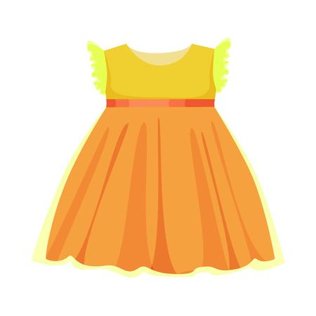 Vector illustration of dress and child symbol. Collection of dress and cute vector icon for stock. Illustration