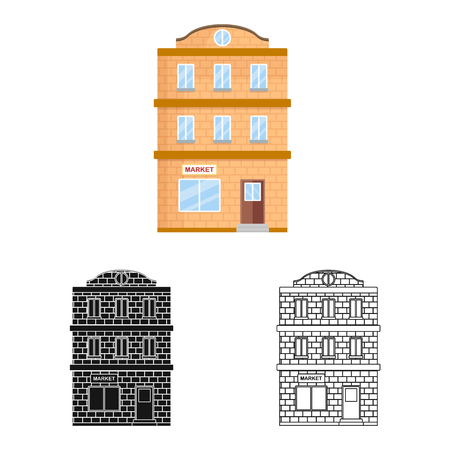 Vector illustration of house and pane  sign. Collection of house and townhouse  stock symbol for web.