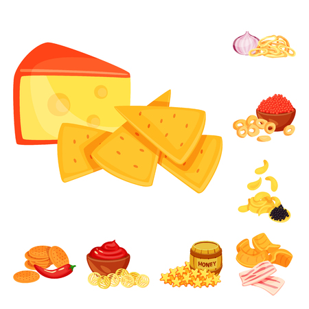Vector design of food and product icon. Collection of food and party stock symbol for web.