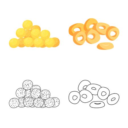 Vector design of Oktoberfest and bar symbol. Set of Oktoberfest and cooking stock vector illustration.