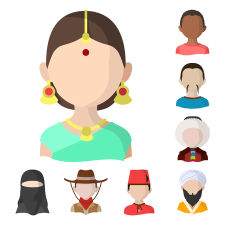 Vector design of nation and race. Collection of nation and user vector icon for stock.