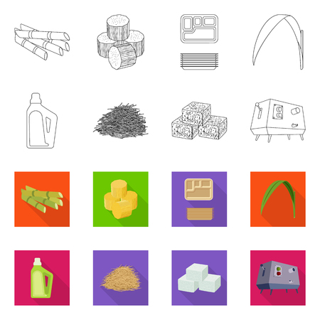 Vector design of farm and agriculture  icon. Set of farm and technology vector icon for stock.