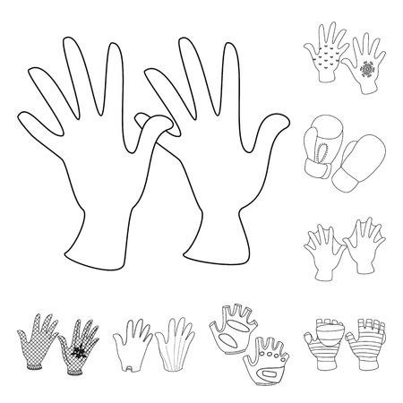 Illustrazione vettoriale di accessorio e icona di stile. Collezione di accessori e simbolo azionario distintivo per il web. Vettoriali