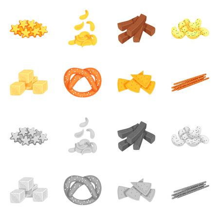 Vector design of Oktoberfest and bar sign. Collection of Oktoberfest and cooking stock vector illustration.