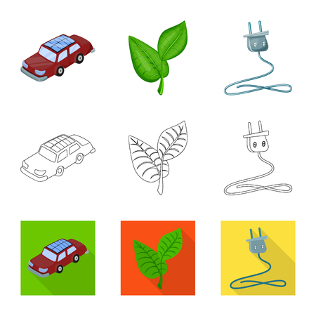 Vector illustration of innovation and technology  icon. Set of innovation and nature  stock vector illustration. Illustration