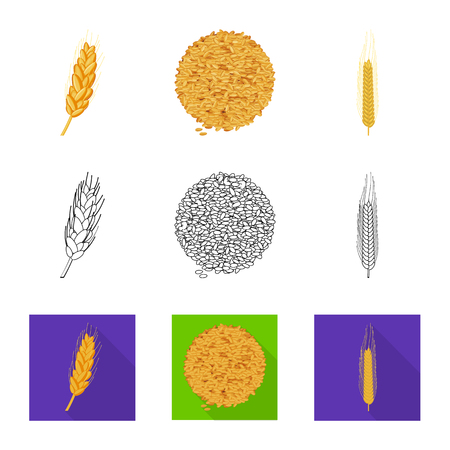 Vector illustration of agriculture and farming symbol. Collection of agriculture and plant  vector icon for stock.