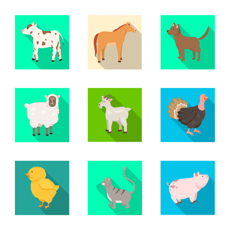 Vector design of breeding and kitchen  symbol. Collection of breeding and organic  stock vector illustration. Ilustração
