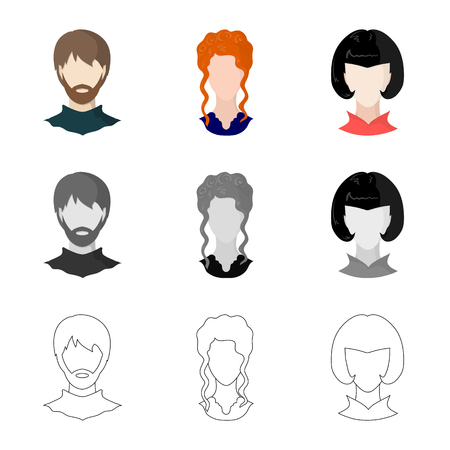 Vector design of professional and photo icon. Set of professional and profile vector icon for stock. Illustration