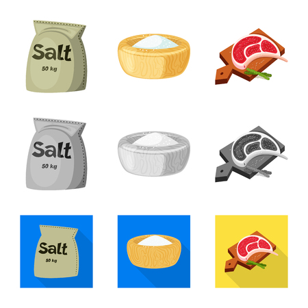 Vector design of cooking and sea icon. Collection of cooking and baking   stock symbol for web.
