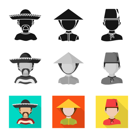 Isolated object of imitator and resident sign. Set of imitator and culture vector icon for stock.
