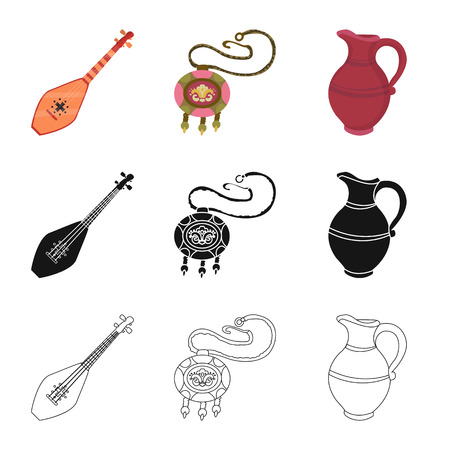 Vector illustration of culture and sightseeing icon. Collection of culture and originality stock symbol for web.