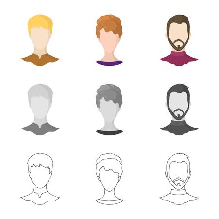 Vektorillustration der Berufs- und Fotoikone. Satz von professionellen und Profilvektorsymbolen für Aktien.
