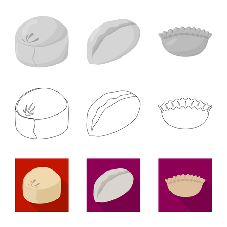 Vector illustration of products  and cooking icon. Collection of products  and appetizer stock vector illustration. Illustration