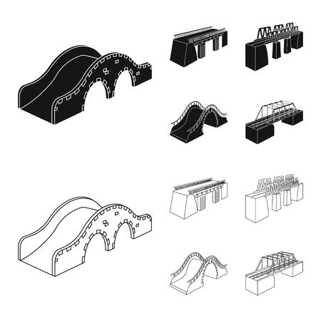 Vector illustration of connection and design symbol. Set of connection and side stock vector illustration. Ilustración de vector