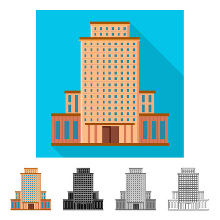 Isolated object of hotel and high symbol. Set of hotel and tourism stock vector illustration.