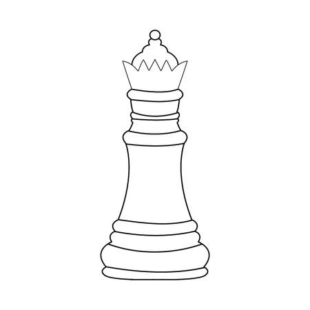 Disegno vettoriale di regina e segno di bordo. Set di illustrazione vettoriale d'archivio regina e compagno.