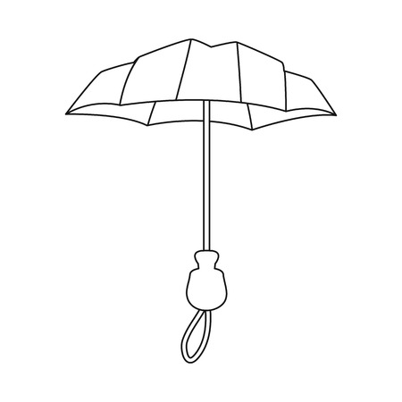 Isolated object of parasol and coverage   icon. Collection of parasol and classic stock symbol for web.