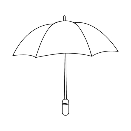 Vector illustration of parasol and water sign. Collection of parasol and yellow vector icon for stock.