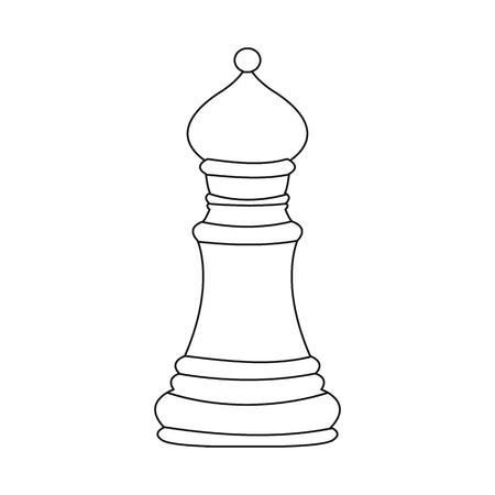 Vector illustration of bishop and strategic sign. Collection of bishop and black stock vector illustration.