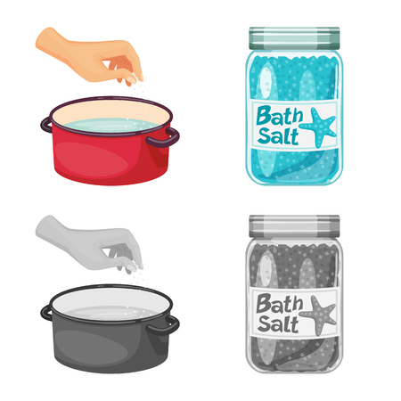 Vector illustration of cooking and sea symbol. Set of cooking and baking   stock symbol for web.