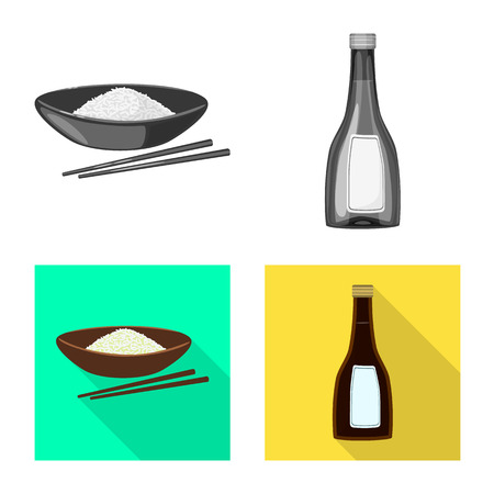 Isolated object of crop and ecological sign. Collection of crop and cooking stock symbol for web.