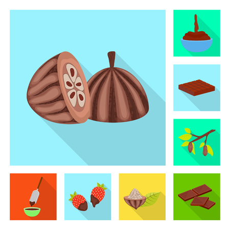 Isolated object of treat and product sign. Collection of treat and yummy stock symbol for web.