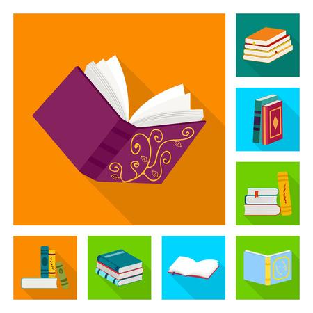 Oggetto isolato del simbolo dell'illustrazione e dell'informazione. Set di illustrazione e copertina simbolo azionario per il web. Vettoriali