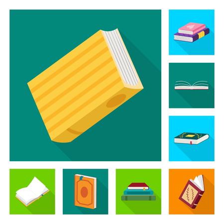 Isoliertes Objekt der Illustration und Hinweisschild. Sammlung von Illustrations- und Titelsymbolen für das Web.