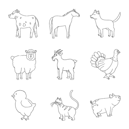 Isolated object of homemade and countryside symbol. Set of homemade and agriculture stock vector illustration. Illustration