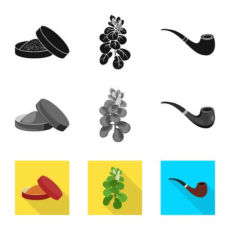 Vector illustration of refuse and stop icon. Set of refuse and habit stock vector illustration. Ilustración de vector