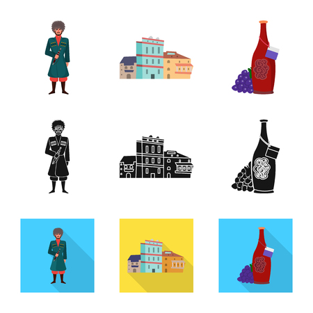 Vector illustration of culture and sightseeing sign. Collection of culture and originality vector icon for stock.