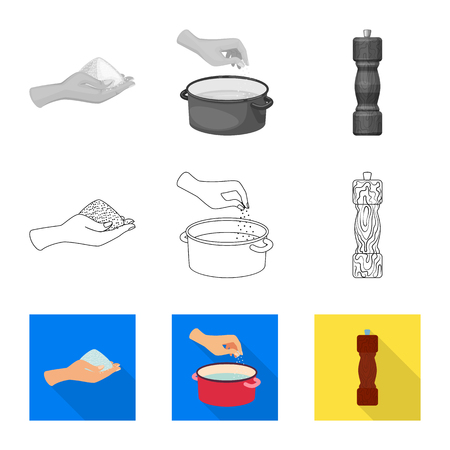 Vector illustration of cooking and sea logo. Set of cooking and baking   vector icon for stock.