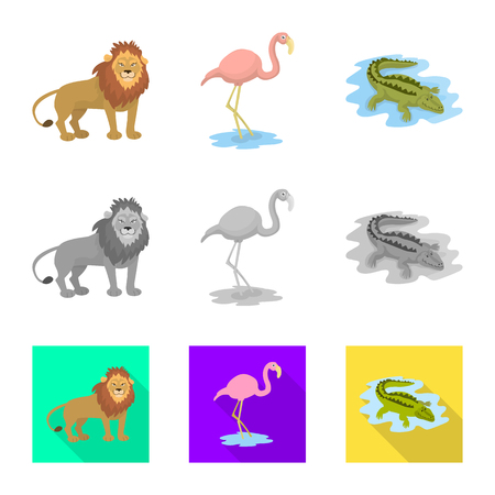Vector design of nature  and fun  sign. Collection of nature  and entertainment stock symbol for web.