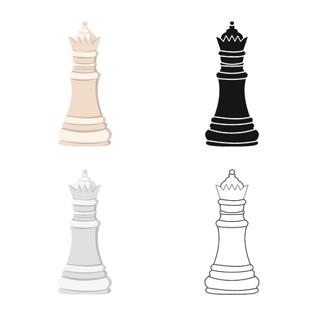 Isolated object of queen and board symbol. Set of queen and mate stock symbol for web.