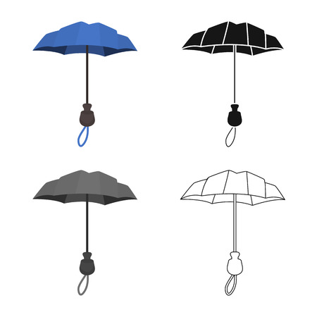 Vector illustration of parasol and coverage. Set of parasol and classic stock vector illustration.