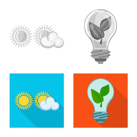 Vector illustration of innovation and technology  logo. Set of innovation and nature  vector icon for stock. Illustration