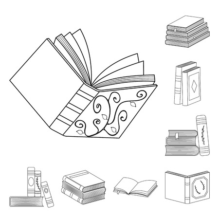 Isolated object of study  and literature  symbol. Collection of study  and source stock vector illustration.