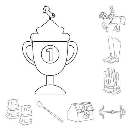 Vector illustration of horseback and equestrian logo. Collection of horseback and horse  stock vector illustration.