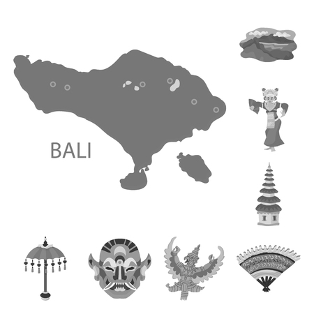 Isolated object of asian and geography logo. Set of asian and tourism vector icon for stock. Illusztráció