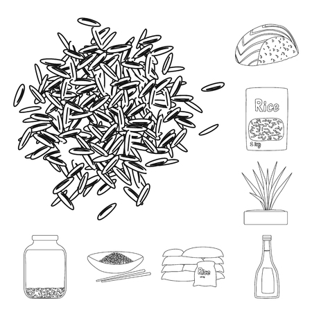 Vector design of diet and cooking symbol. Collection of diet and organic vector icon for stock. Иллюстрация