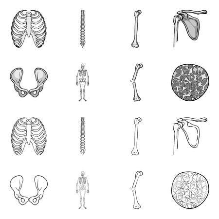 Vector design of medicine and clinic symbol. Collection of medicine and medical stock vector illustration.