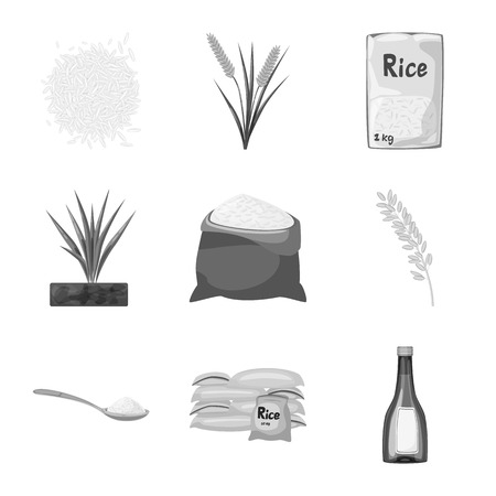 Vector design of food and organic icon. Set of food and agricultural stock vector illustration.