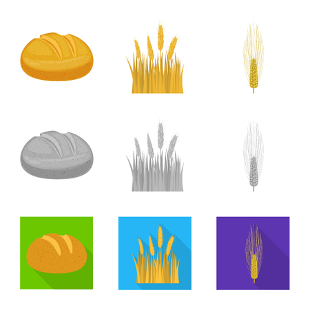 Isolated object of agriculture and farming. Set of agriculture and plant  vector icon for stock.