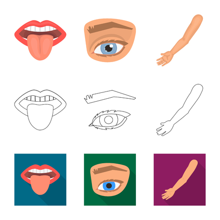 Vector design of body and part icon. Set of body and anatomy stock vector illustration. Banque d'images - 122414660
