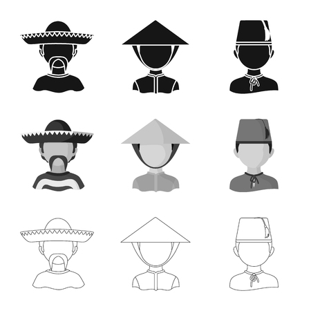 Vector illustration of imitator and resident icon. Collection of imitator and culture stock symbol for web.